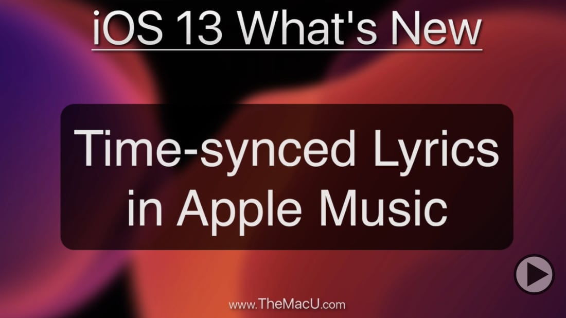 Time-Synced Lyrics in Apple Music